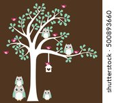 tree with cute owl
