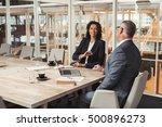 talking business strategy in... | Shutterstock . vector #500896273