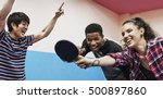 table tennis ping pong friends... | Shutterstock . vector #500897860