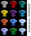 set of shining jewels with... | Shutterstock .eps vector #500898250