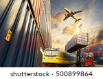 container cargo freight ship... | Shutterstock . vector #500899864