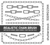 realistic metal chain set ... | Shutterstock .eps vector #500901544
