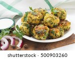 fresh vegetarian falafel balls... | Shutterstock . vector #500903260