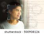 biometric verification  face... | Shutterstock . vector #500908126