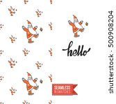 stylish greeting card for new... | Shutterstock .eps vector #500908204