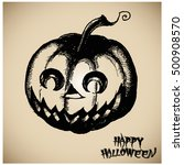 halloween pumpkin vector... | Shutterstock .eps vector #500908570