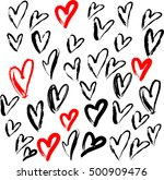 love vector pattern | Shutterstock .eps vector #500909476