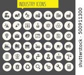 big industry icon set | Shutterstock .eps vector #500911300