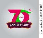 70 years anniversary... | Shutterstock .eps vector #500917180