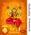 illustration of goddess lakshmi ... | Shutterstock .eps vector #500918236