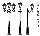 street lamps collection lantern ... | Shutterstock .eps vector #500925136