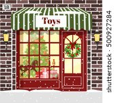 christmas toy shop toy store... | Shutterstock .eps vector #500927284