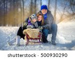 the happy close knit family... | Shutterstock . vector #500930290