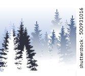 winter landscape.  vector...   Shutterstock .eps vector #500931016