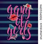 vector illustration. a gang of... | Shutterstock .eps vector #500931094