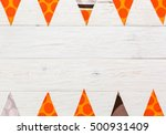 colored flags with pattern on... | Shutterstock . vector #500931409