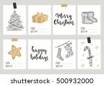 merry christmas and happy new... | Shutterstock .eps vector #500932000