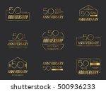 fifty years anniversary... | Shutterstock .eps vector #500936233