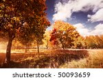 autumn at the morning park | Shutterstock . vector #50093659