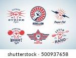 abstract vector fists logo set. ... | Shutterstock .eps vector #500937658