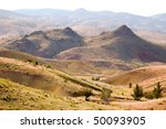desert hills and colored soil | Shutterstock . vector #50093905