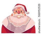 santa claus face  smiling... | Shutterstock .eps vector #500952520