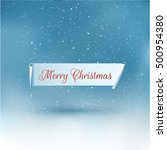 ribbon with merry christmas... | Shutterstock .eps vector #500954380
