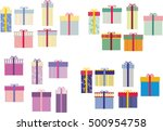 gift box | Shutterstock .eps vector #500954758