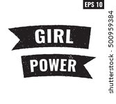 girl power. words with retro...   Shutterstock .eps vector #500959384