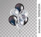 balloons black friday. white... | Shutterstock .eps vector #500961034