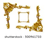 ornamental  rectangular segment ... | Shutterstock . vector #500961733