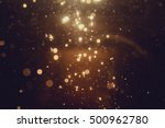 gold abstract bokeh background | Shutterstock . vector #500962780