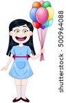 vector illustration of a cute... | Shutterstock .eps vector #500964088
