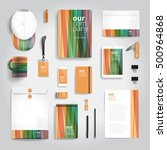 corporate identity stationery... | Shutterstock .eps vector #500964868