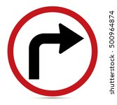 traffic sign  turn right ahead... | Shutterstock .eps vector #500964874