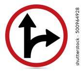 traffic sign  go straight on... | Shutterstock .eps vector #500964928