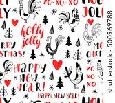 new year vector seamless... | Shutterstock .eps vector #500969788