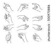 hand collection   vector line... | Shutterstock .eps vector #500970886