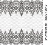 seamless lace pattern  flower... | Shutterstock .eps vector #500971549