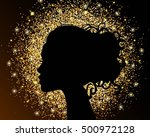 the black silhouette of a girl... | Shutterstock .eps vector #500972128