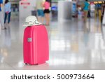 Suitcases In Airport Departure...