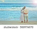 elderly couple rest at tropical ... | Shutterstock . vector #500976070
