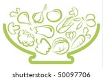 plate with vegetables | Shutterstock .eps vector #50097706