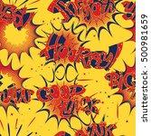 seamless pattern of various... | Shutterstock .eps vector #500981659
