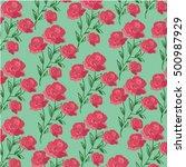 roses pattern | Shutterstock .eps vector #500987929