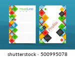 set of front and back a4 size... | Shutterstock .eps vector #500995078