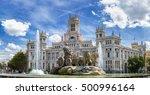 cibeles fountain at plaza de... | Shutterstock . vector #500996164