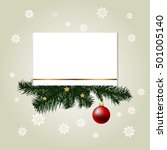 christmas greeting card. winter ... | Shutterstock .eps vector #501005140