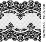 seamless lace pattern  flower... | Shutterstock .eps vector #501007108
