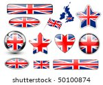 england  united kingdom flag... | Shutterstock .eps vector #50100874